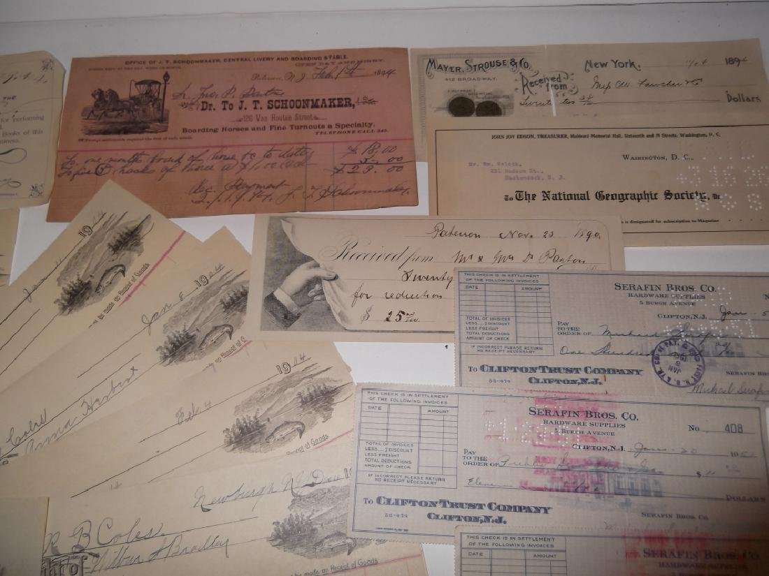 Collection of 29 1900's receipts - 7
