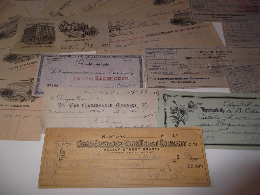 Collection of 29 1900's receipts - 8