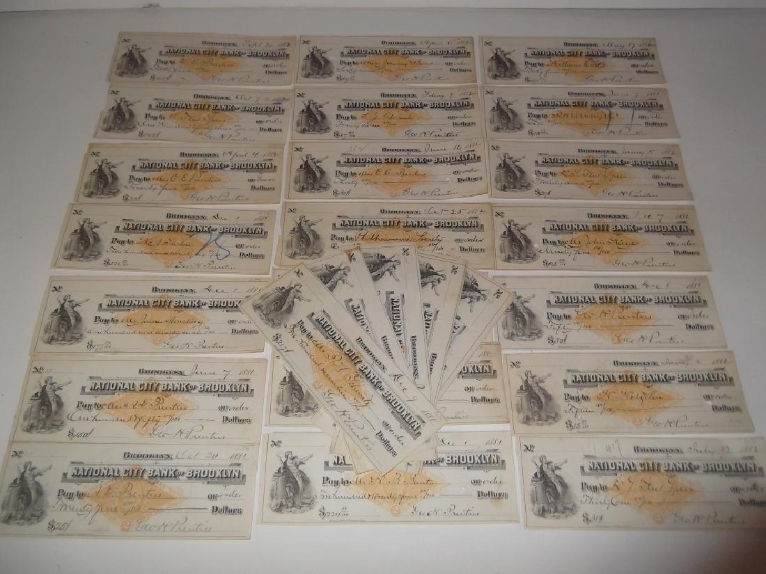 32 1800's bank receipts