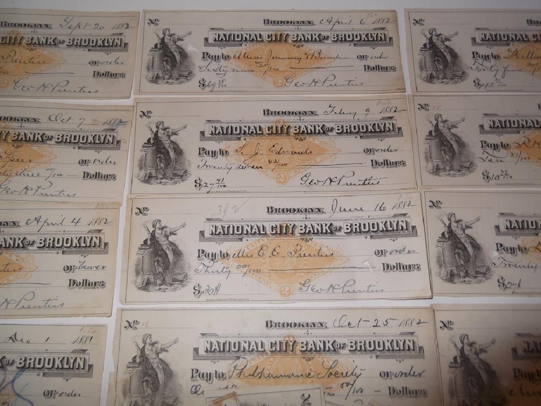 32 1800's bank receipts - 2