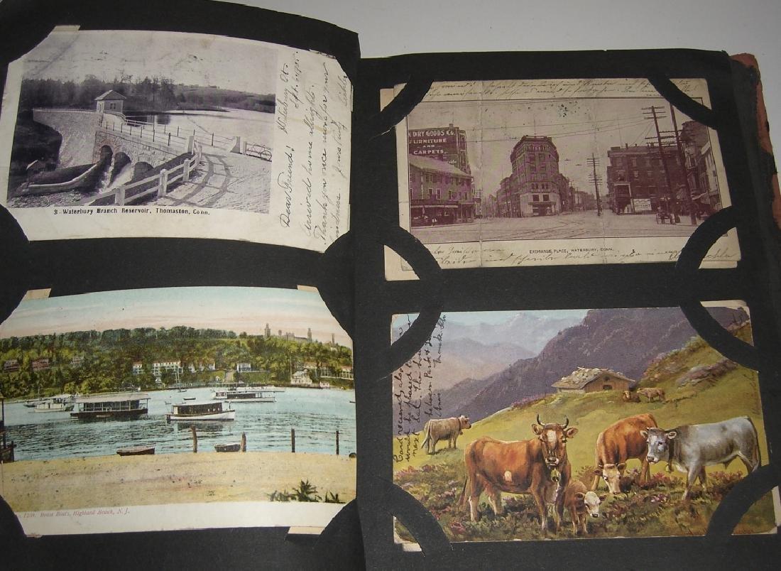 115 postcards in scrapbook - 2