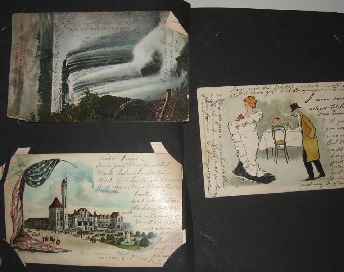 115 postcards in scrapbook - 5