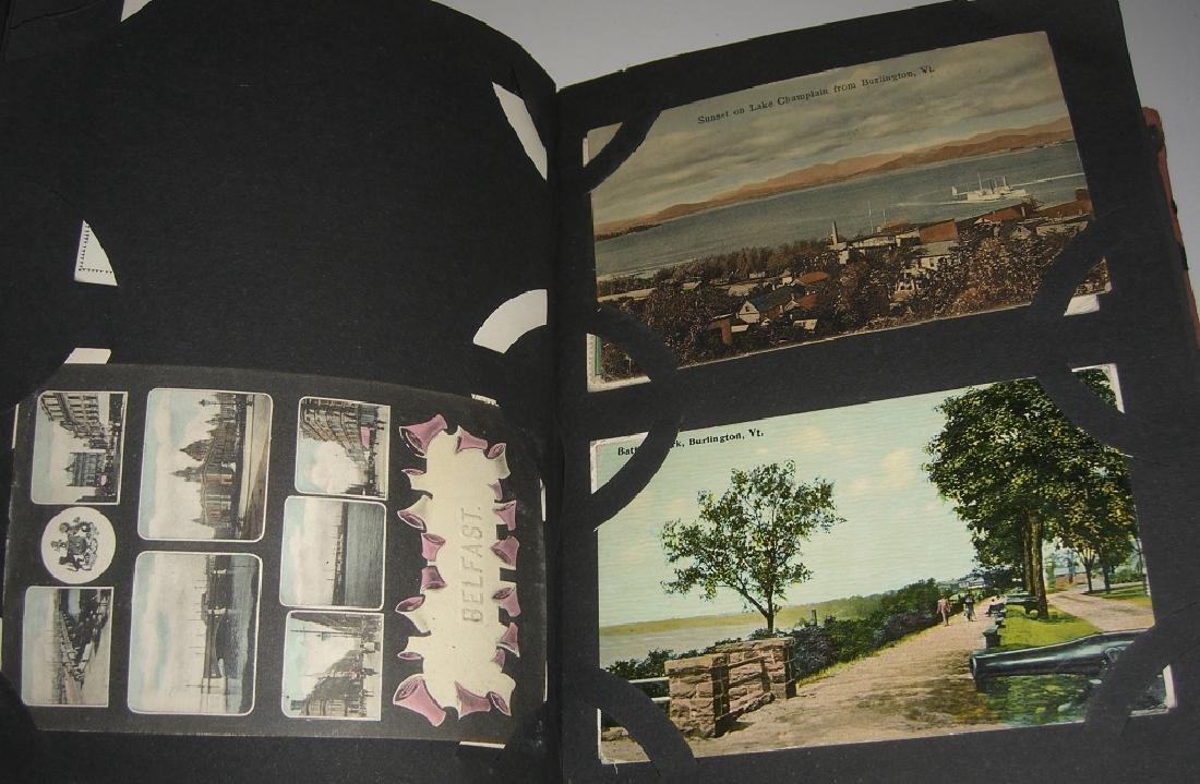 115 postcards in scrapbook - 7