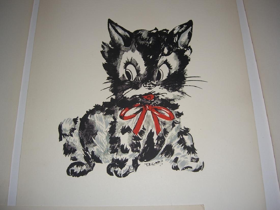 18 original illustrations of children & animals - 6