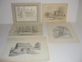 5 piece assorted art lot
