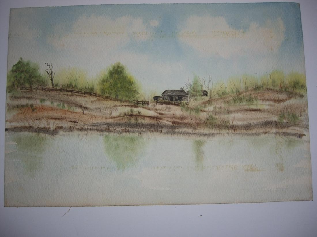 4 1960's  watercolors - 10