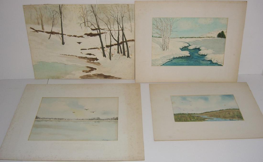 4 1960's  watercolors