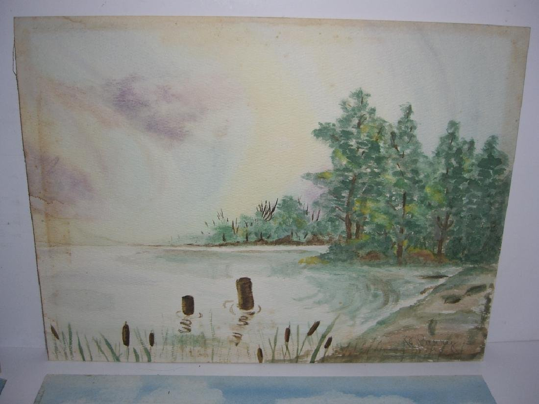 4 1960's  watercolors - 3
