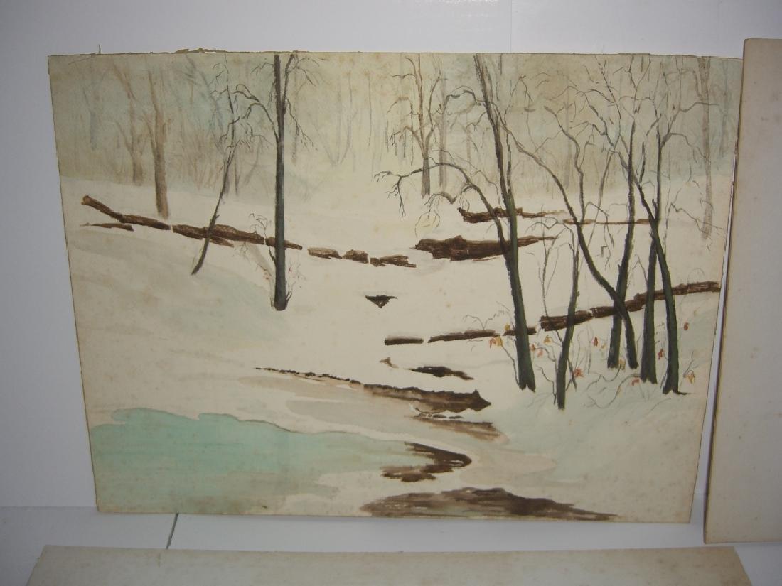 4 1960's  watercolors - 4