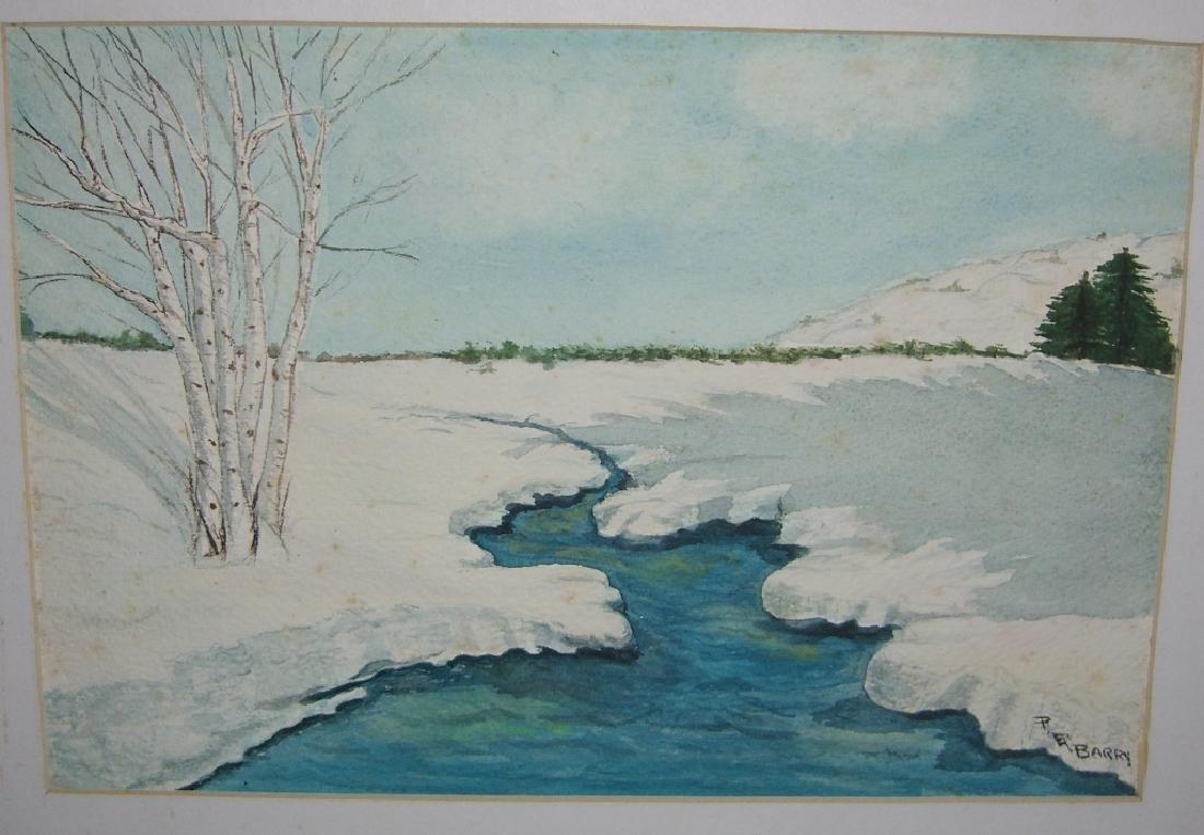 4 1960's  watercolors - 5