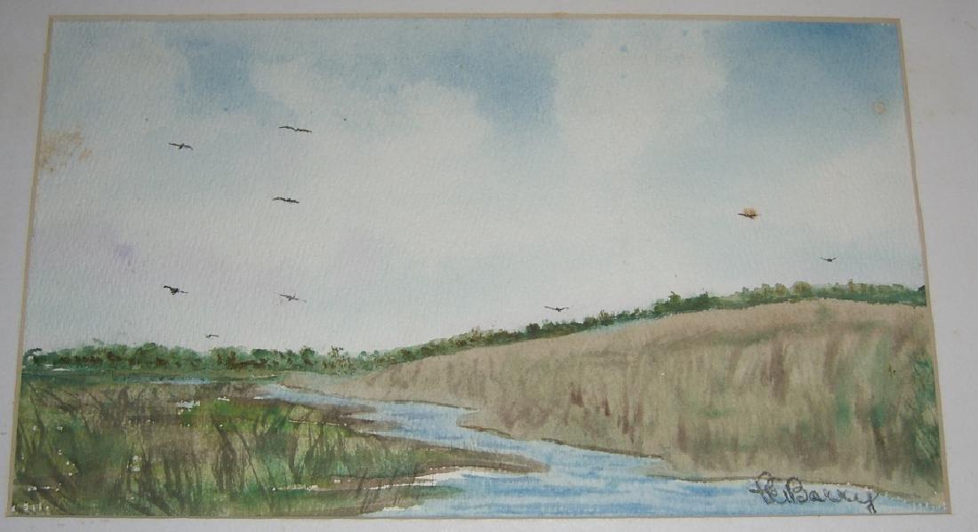 4 1960's  watercolors - 6