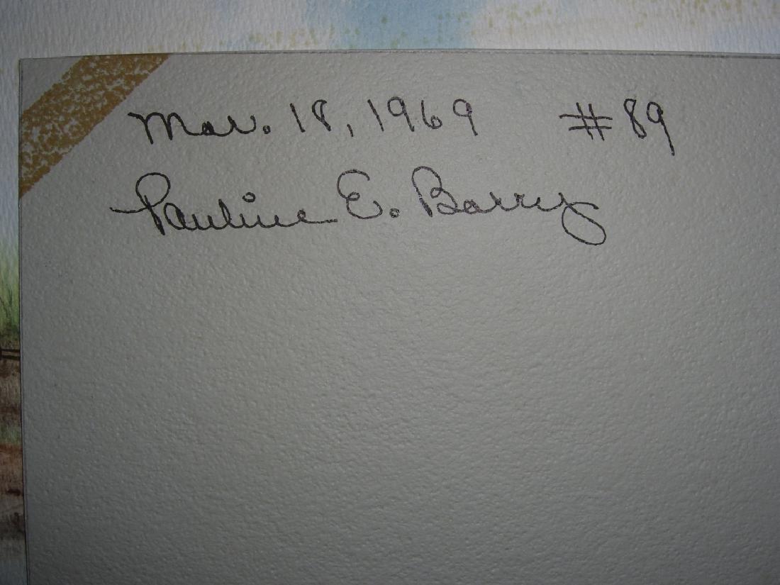 4 1960's  watercolors - 8