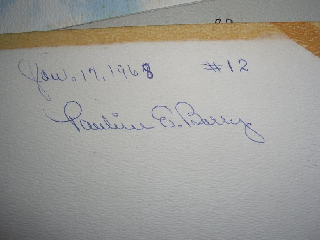 4 1960's  watercolors - 9