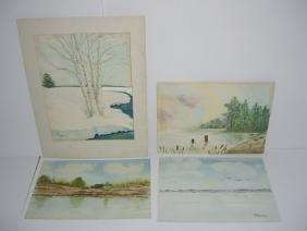 4 1960's/1970's  watercolor