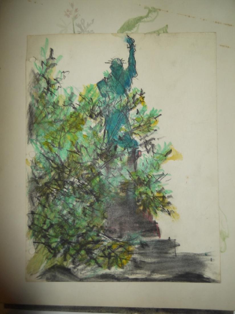 7 1950's watercolors by  Panttila - 2