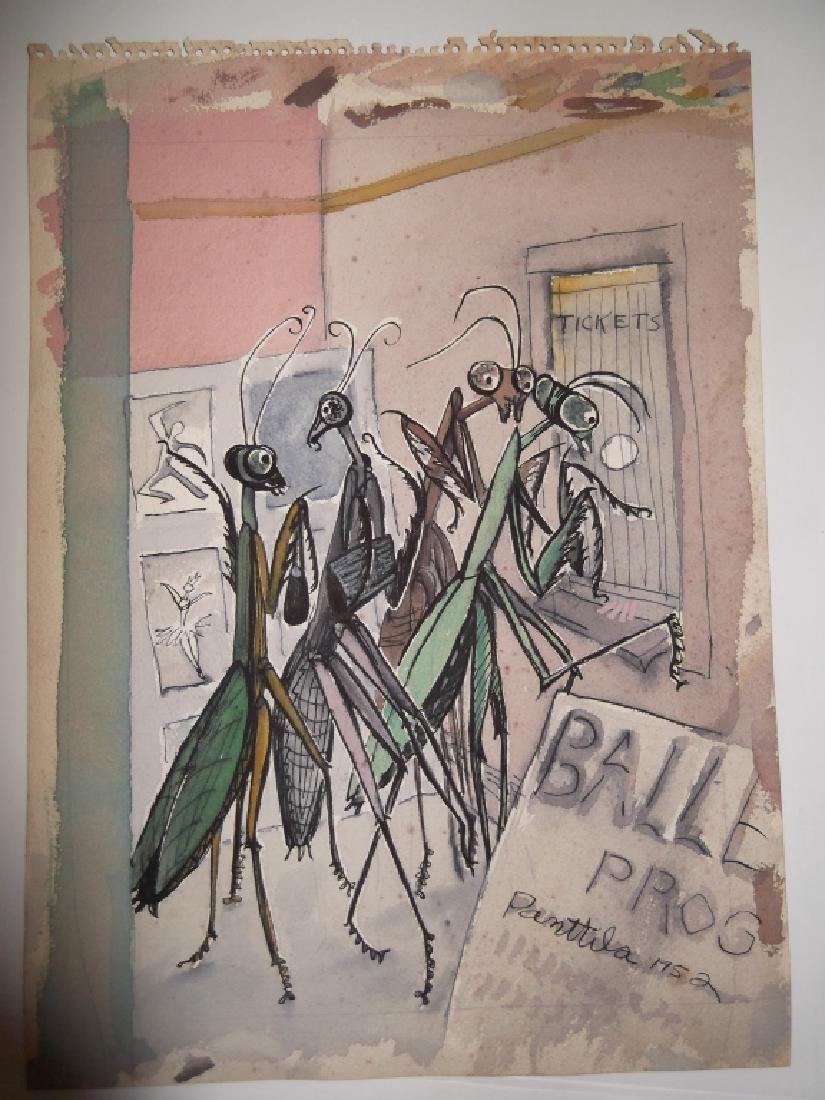 7 1950's watercolors by  Panttila - 5