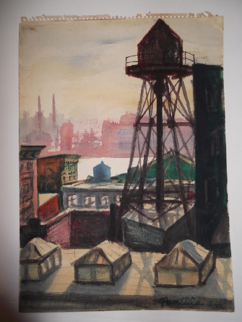 7 1950's watercolors by  Panttila - 6