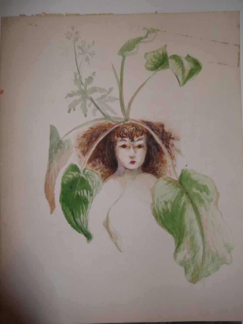 7 1950's watercolors by  Panttila - 7