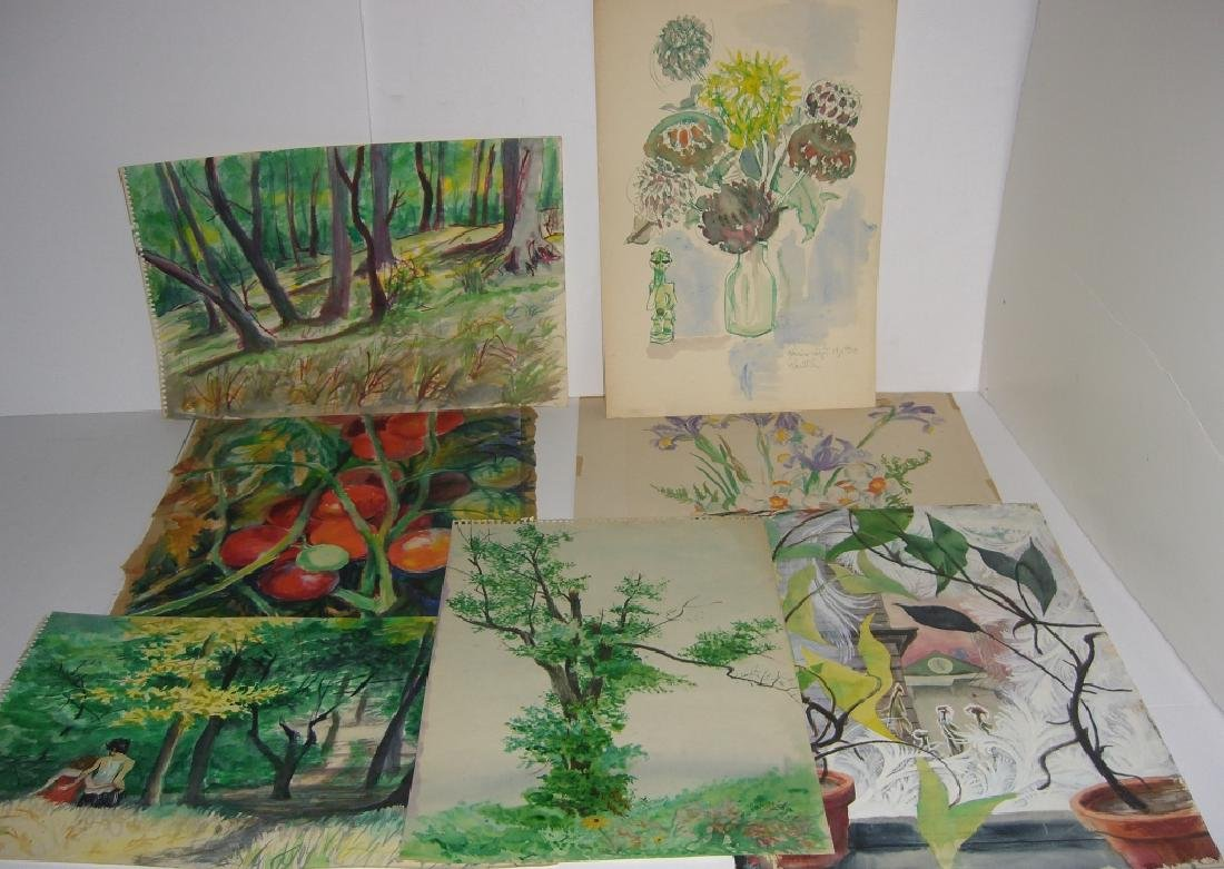 7 original watercolors by  Panttila