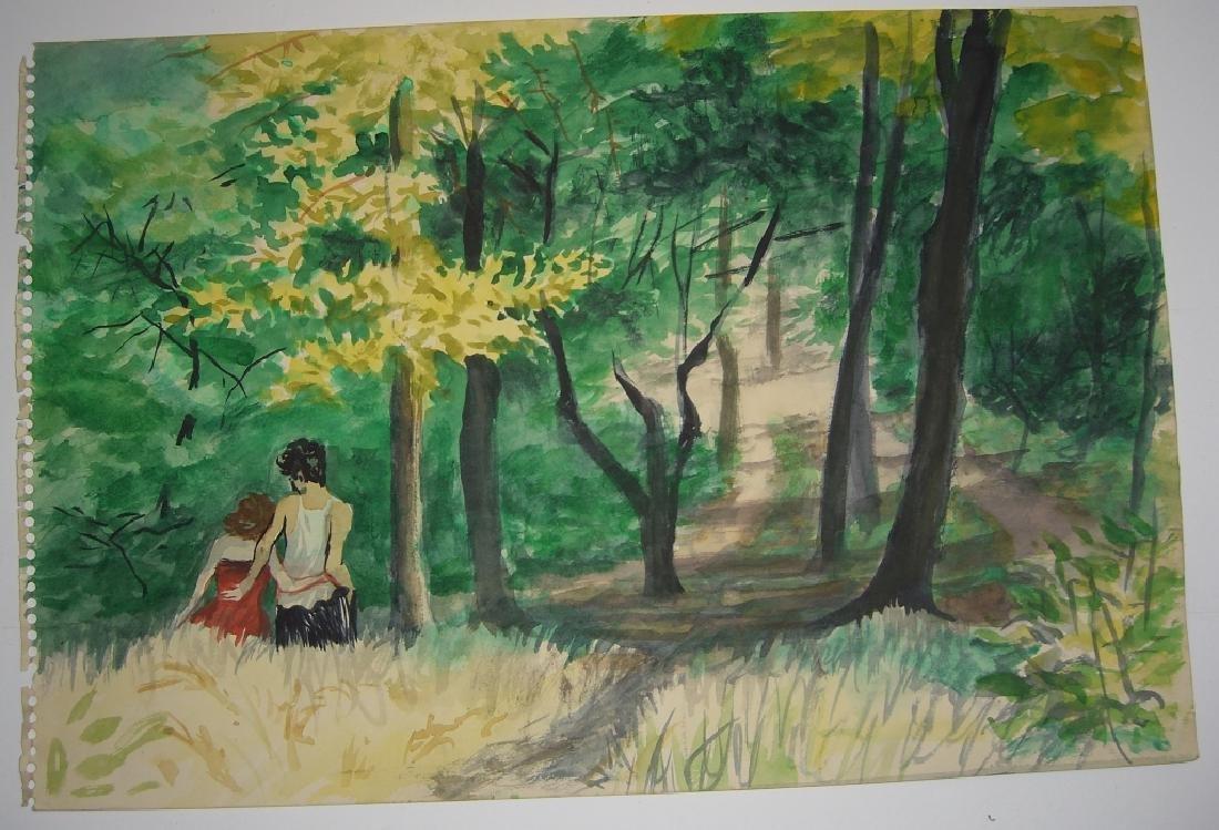 7 original watercolors by  Panttila - 9