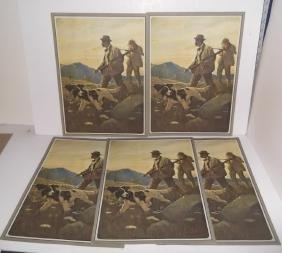 "5 ""Dawn of the Open Season"" hunting prints"