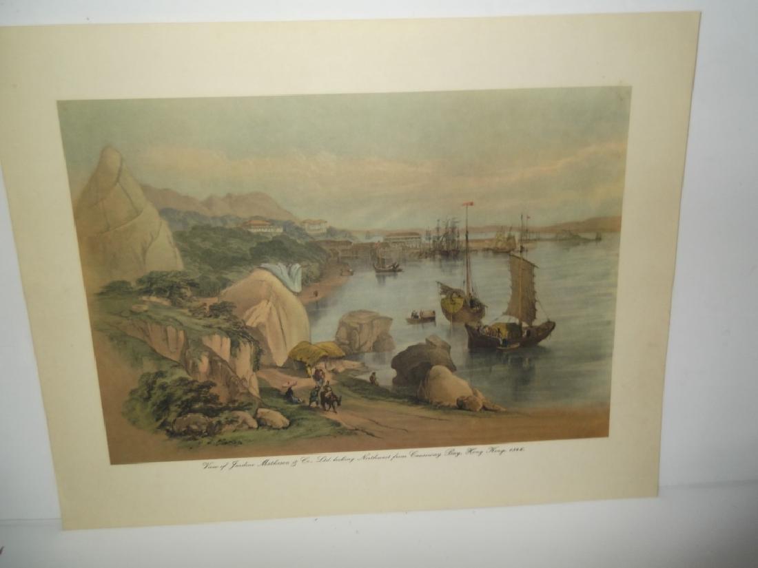 6 20th c. bookplate Hong Kong lithographs - 2