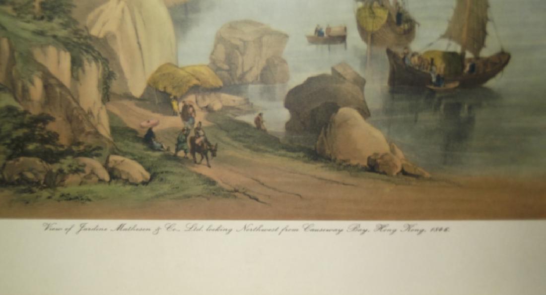 6 20th c. bookplate Hong Kong lithographs - 3