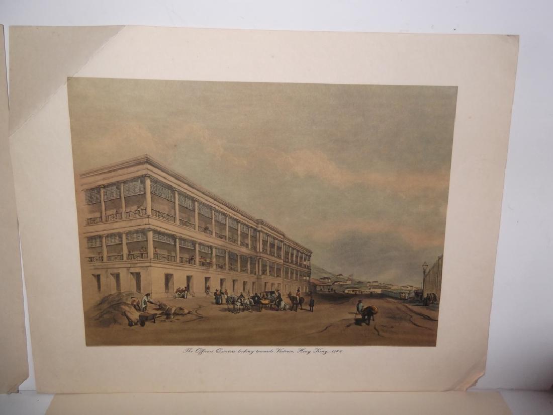 6 20th c. bookplate Hong Kong lithographs - 6