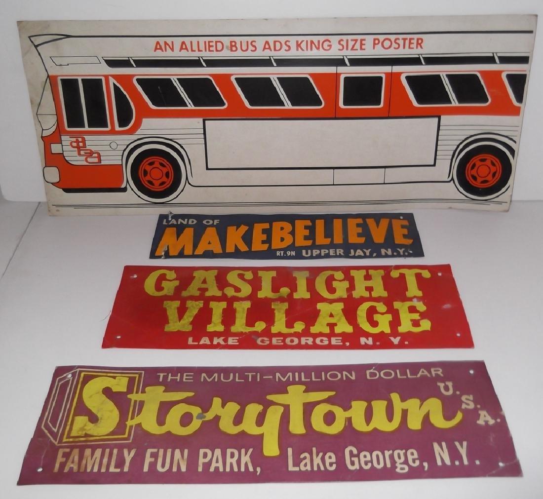 4 cardboard advertising signs