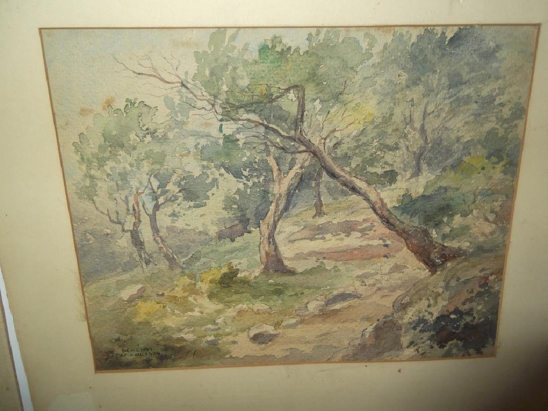3 watercolor/mixed media landscape paintings - 6