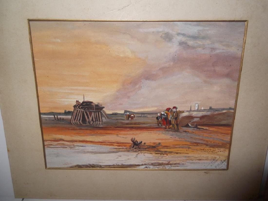 3 watercolor/mixed media landscape paintings - 8