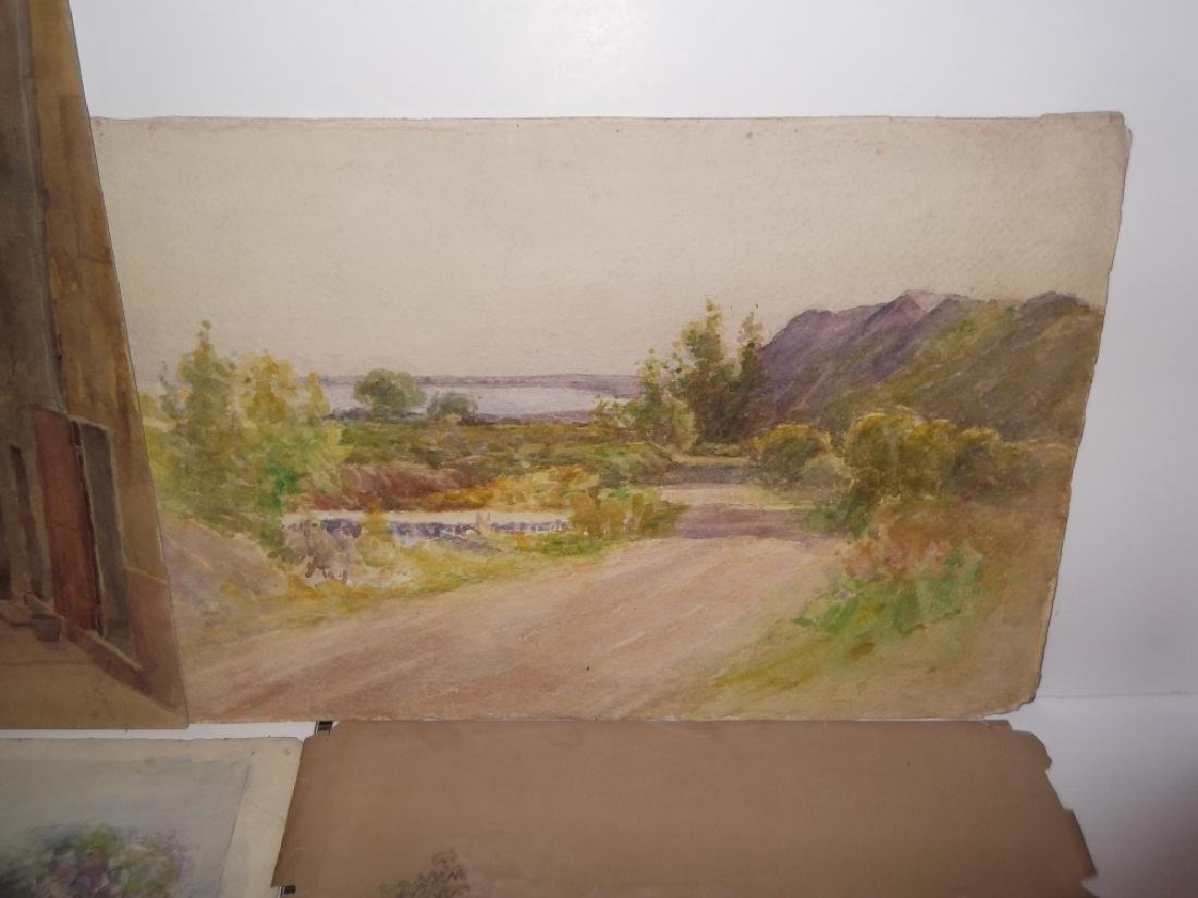 7 vintage original landscape view watercolors - 2