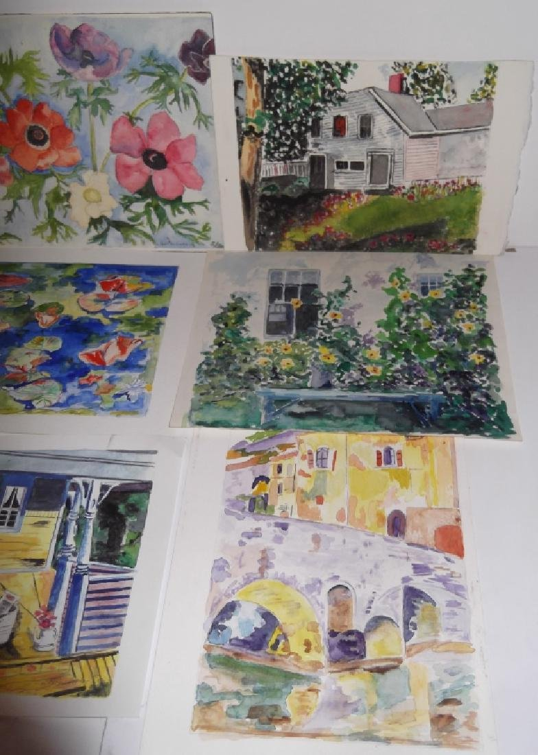 9 vintage original watercolors on paper - 3