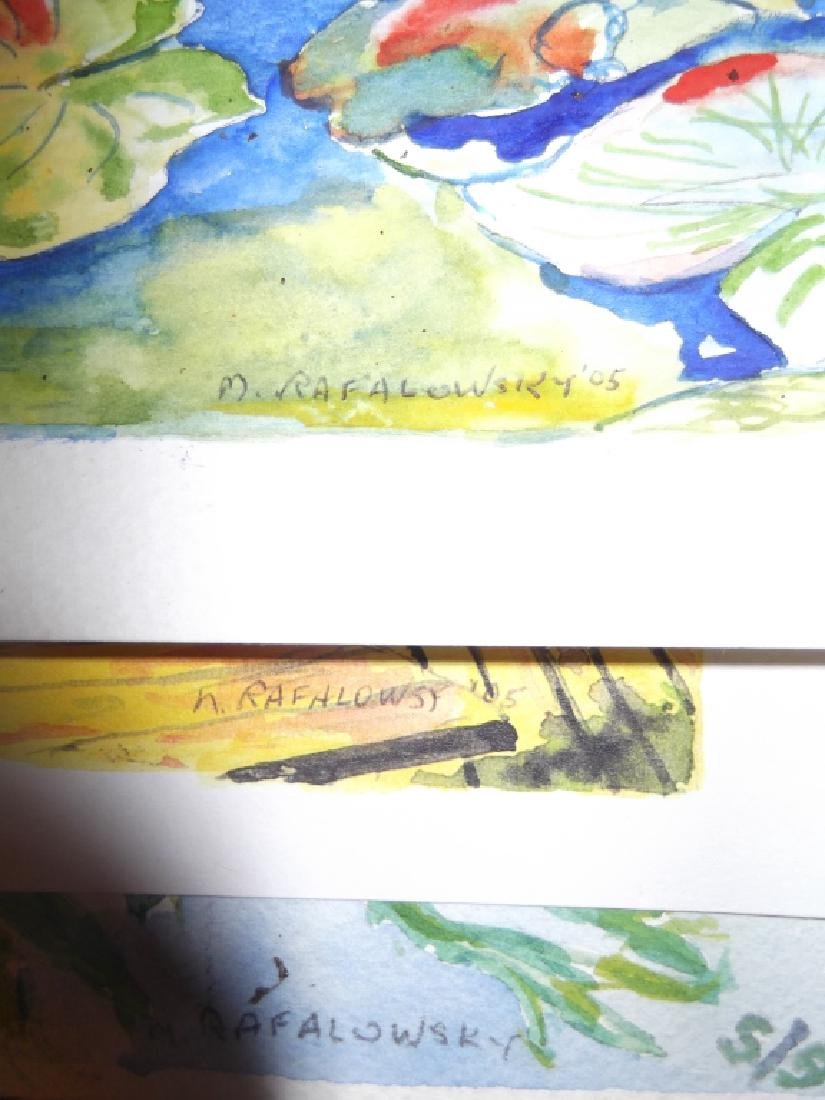 9 vintage original watercolors on paper - 4