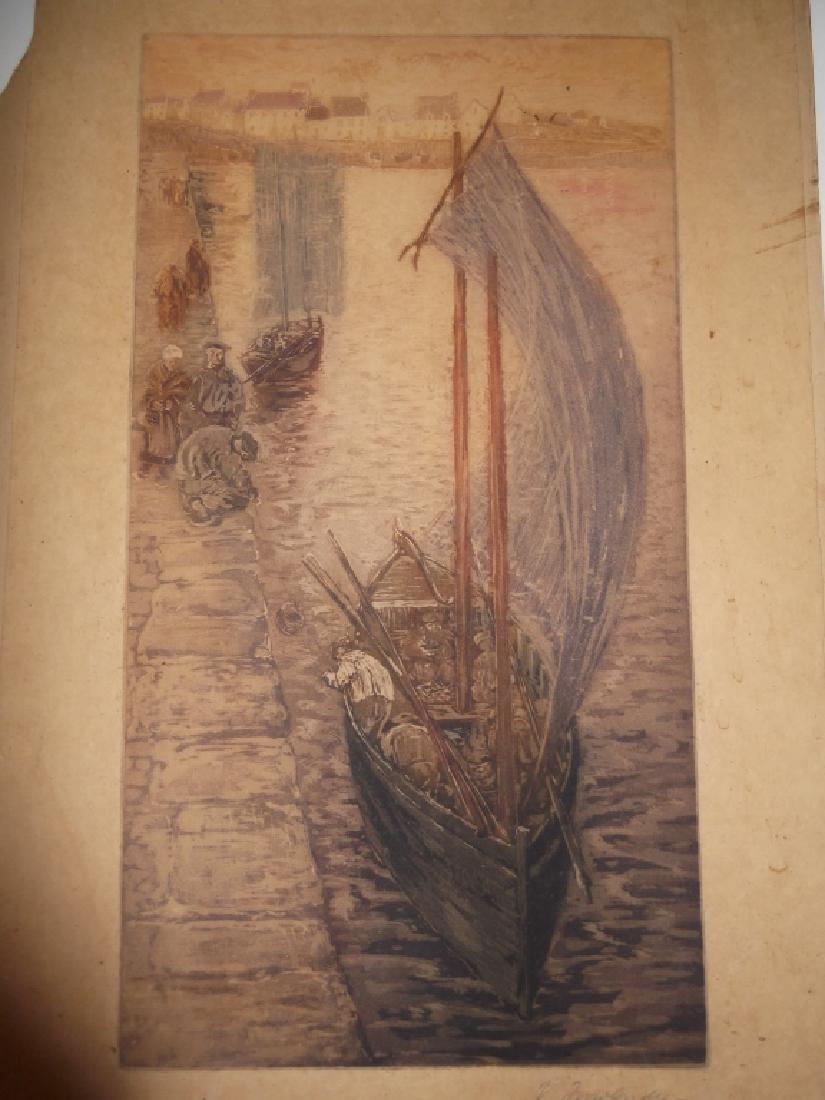 2 vintage watercolors - 5