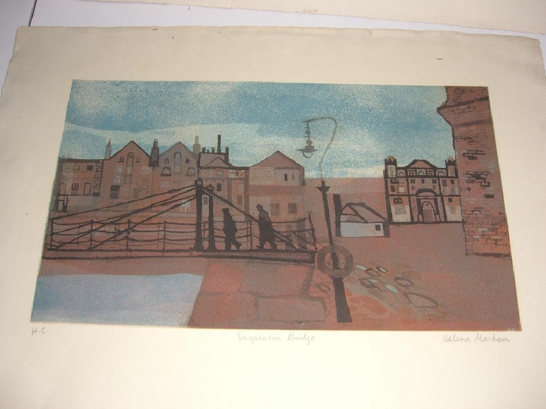 2 large  lithographs - 9
