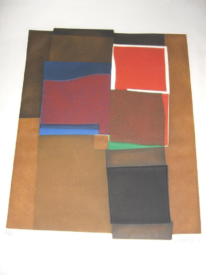 2 abstract lithographs - 6