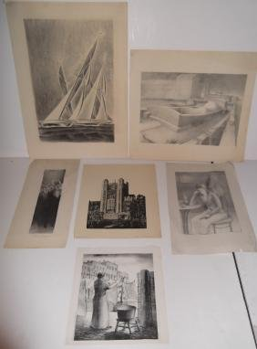 lithographs & woodblock signed A. Truman