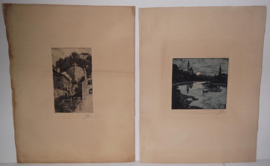 2 landscape/scenic view lithographs
