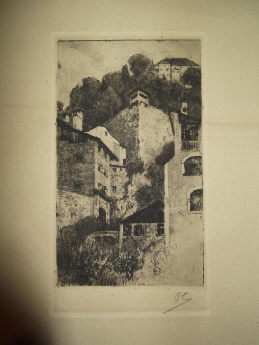 2 landscape/scenic view lithographs - 2