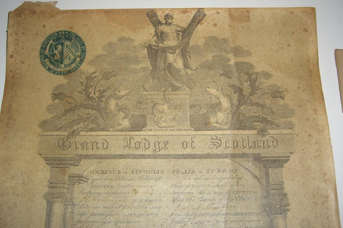 11 19th/20th c. certificates, documents & print - 10