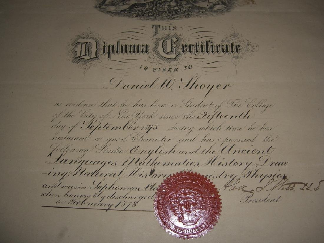 11 19th/20th c. certificates, documents & print - 2