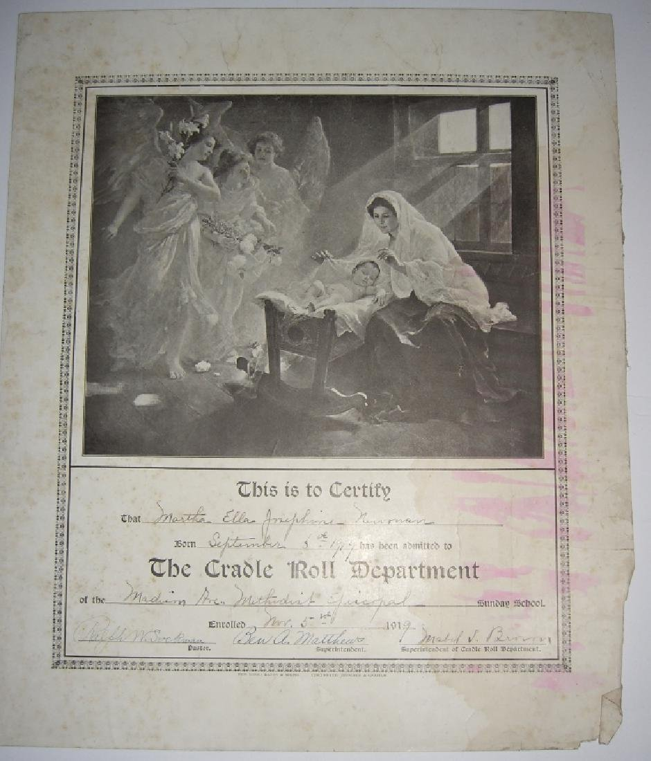 11 19th/20th c. certificates, documents & print - 5