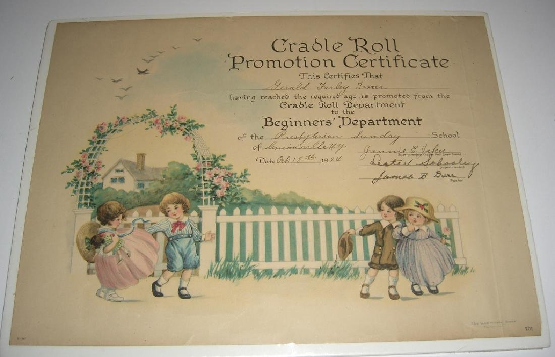11 19th/20th c. certificates, documents & print - 6