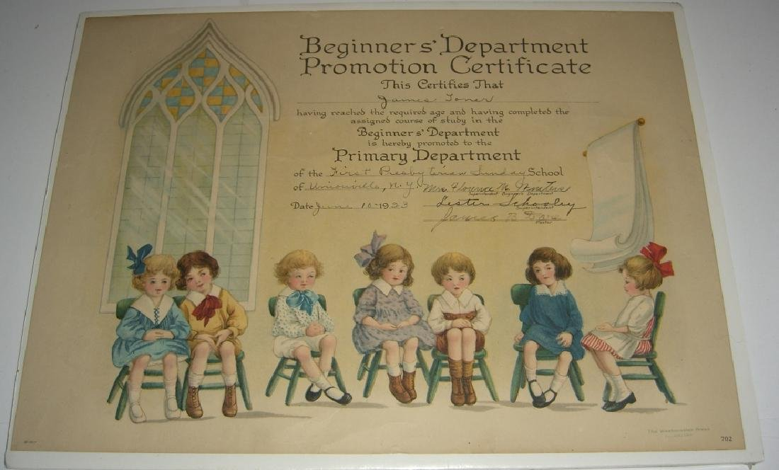 11 19th/20th c. certificates, documents & print - 7