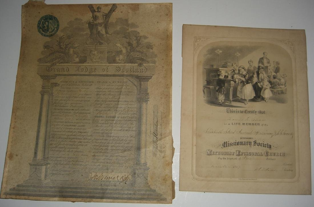 11 19th/20th c. certificates, documents & print - 8