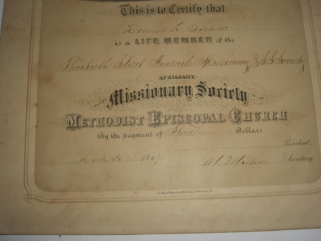11 19th/20th c. certificates, documents & print - 9