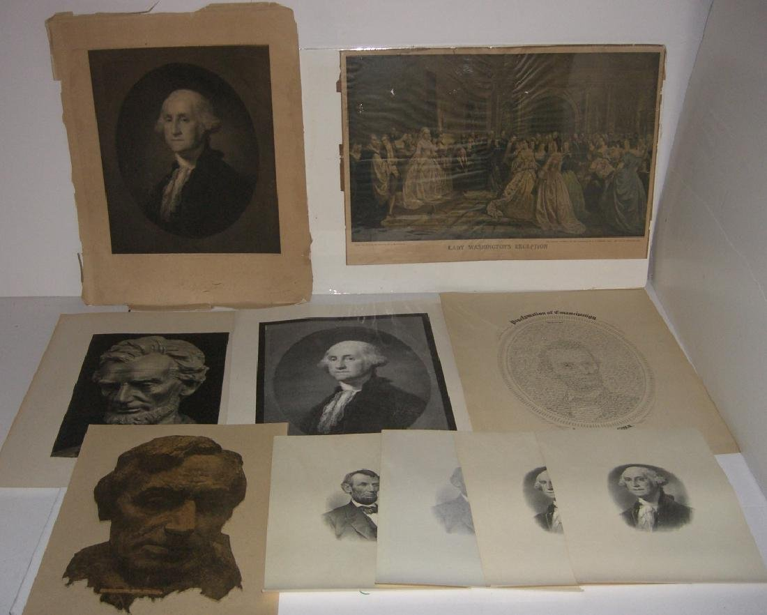 10 9th/20th c.  engravings/etchings, prints