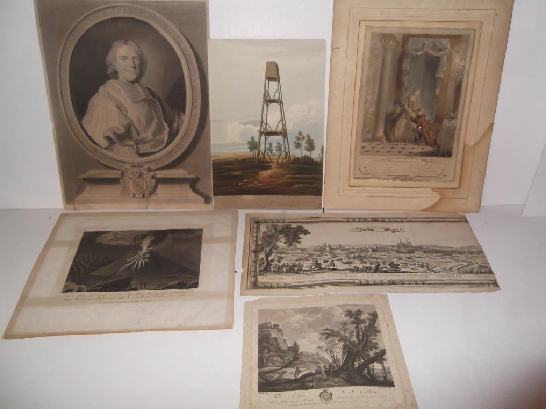 6 19th/20th c. bookplate engravings/etchings
