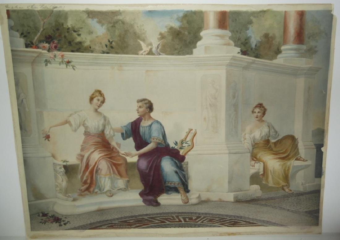 20th c. Neoclassical Colored print